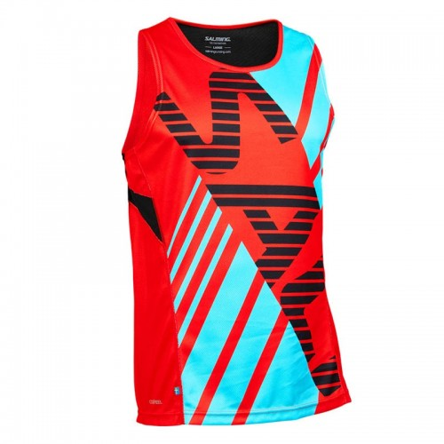 SALMING RACE SINGLET MEN orange/light blue