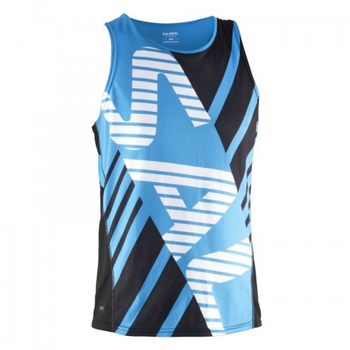 SALMING TEAM RACE SINGLET  Black/Cyan