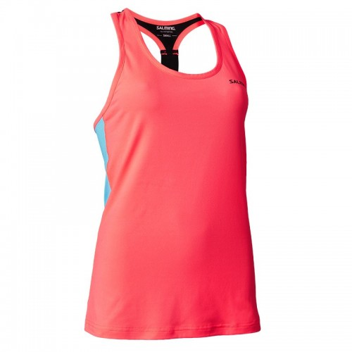 SALMING T-BACK TANKTOP WOMAN coral/light blue